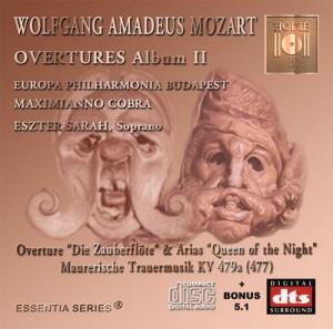 MOZART - Opera Overtures Album II - CD Audio