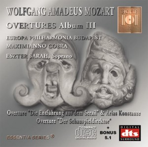 MOZART - Opera Overtures Album III - CD Audio